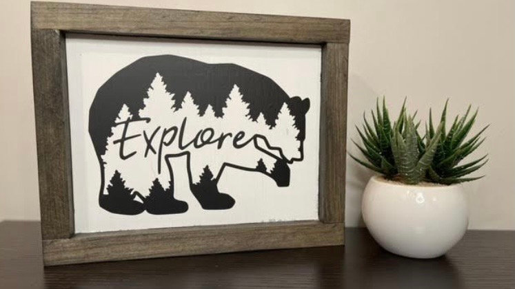Explore Mini Sign