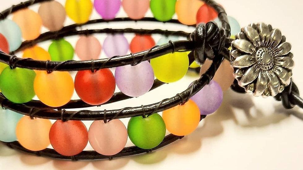 2x leather Wrap bracelet
