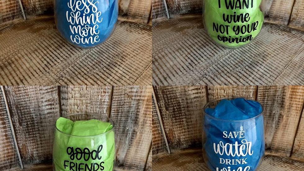 Plastic wine/mason jars/beer cup