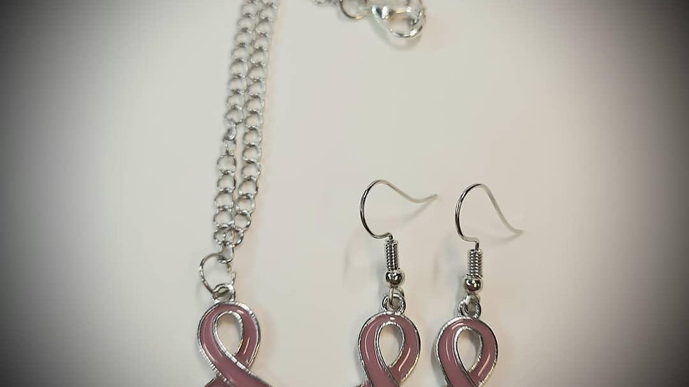 Ribbon Earrings and Necklace