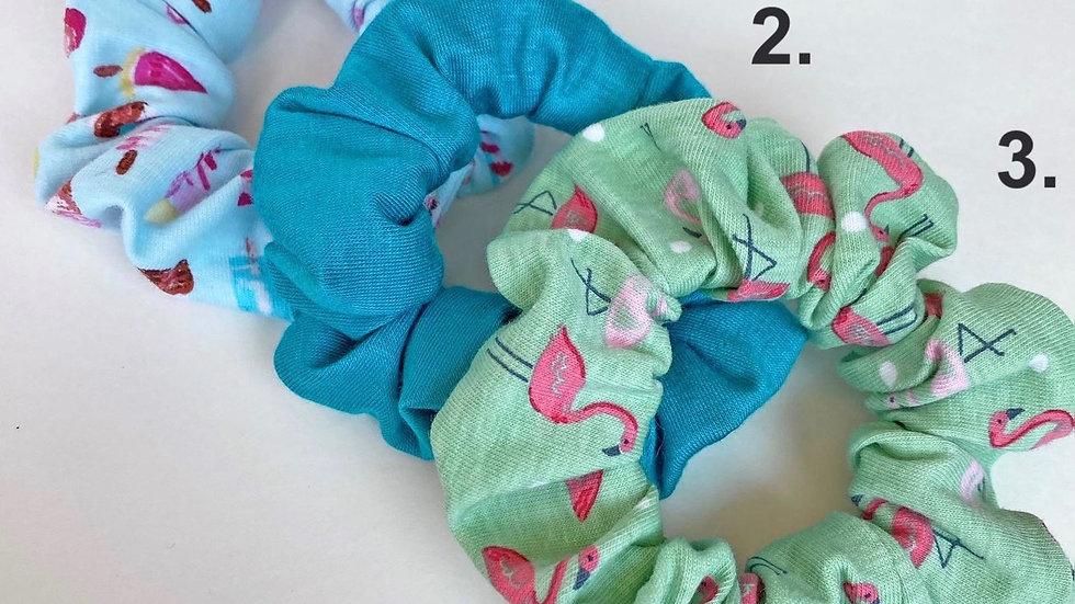 Flamingo Scrunchies
