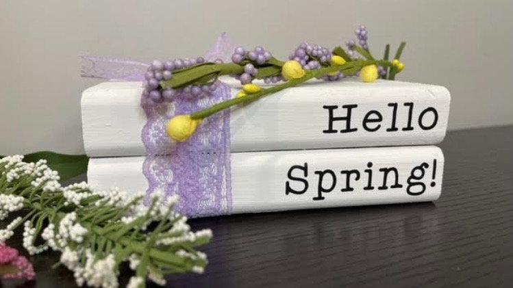 Hello Spring Book Stack