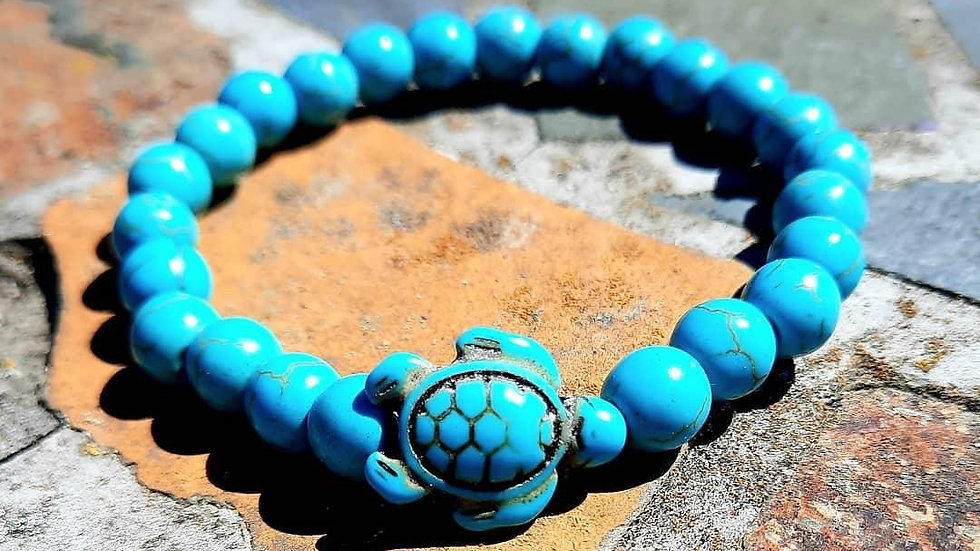 Turtle Gemstone Bracelet