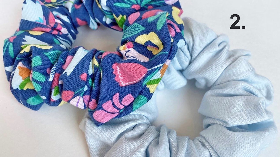 Blue scrunchies