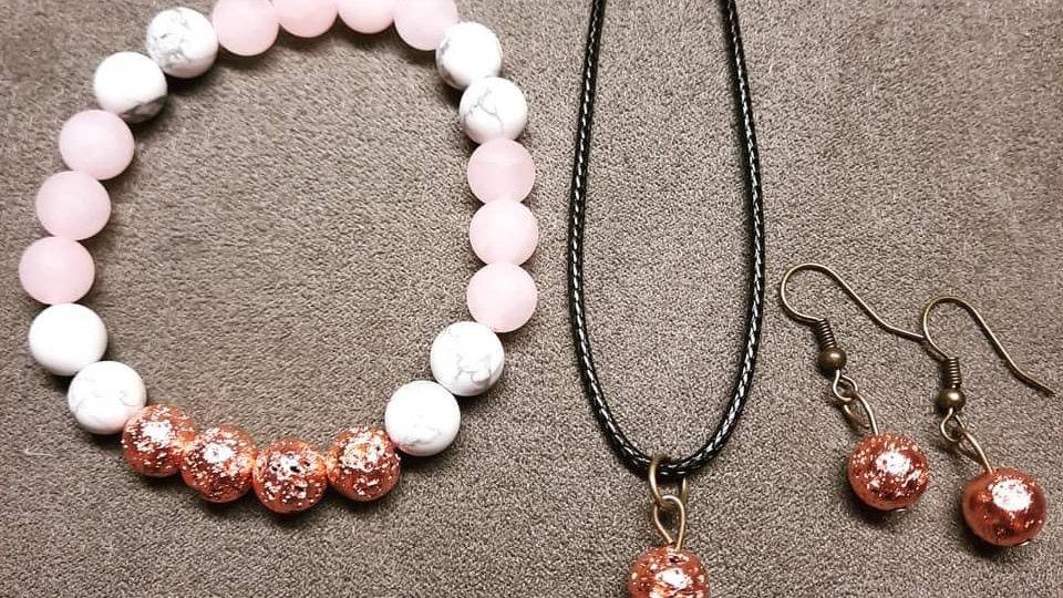 Anxiety Diffuser Bracelet Set