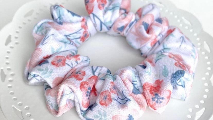 Pastel Floral Scrunchie
