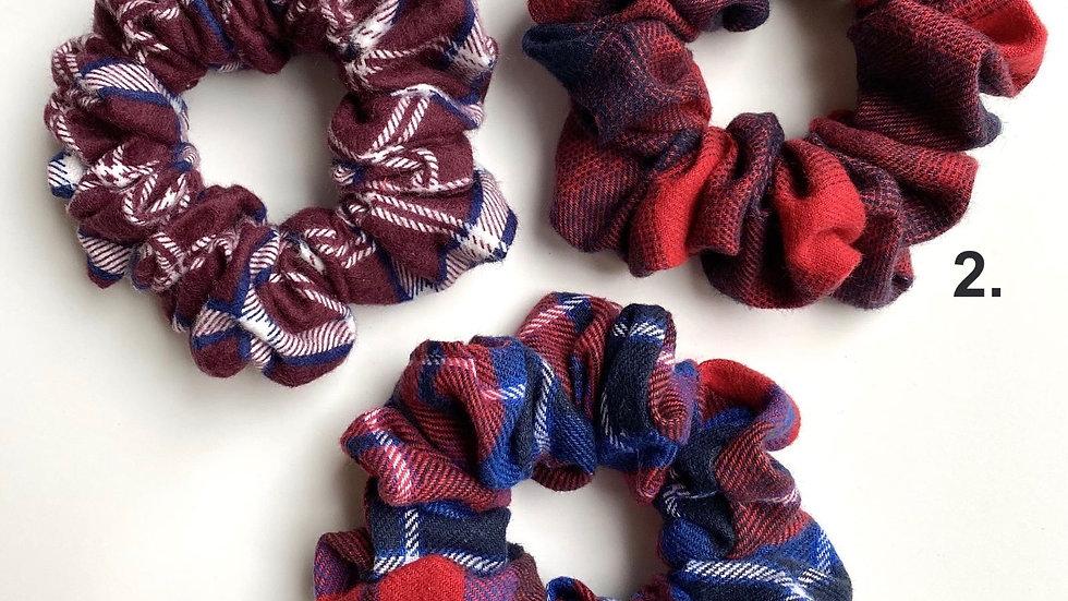 Red Plaid Scrunchies