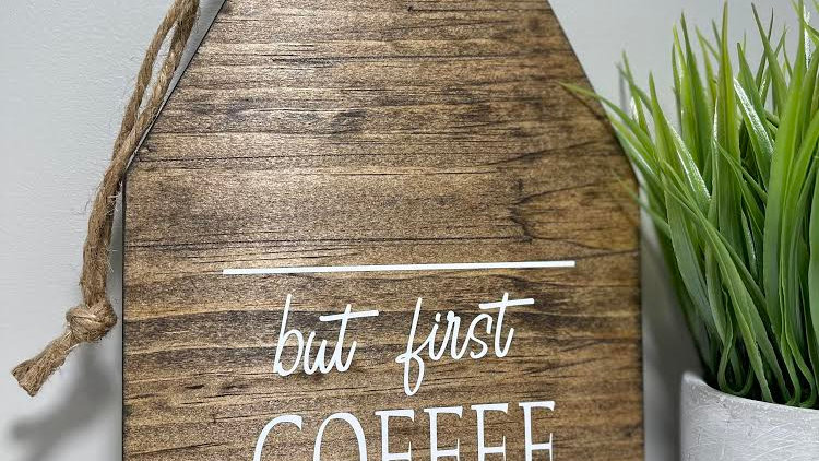 Coffee Tag Sign