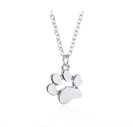 Halsband Silver Paw prints