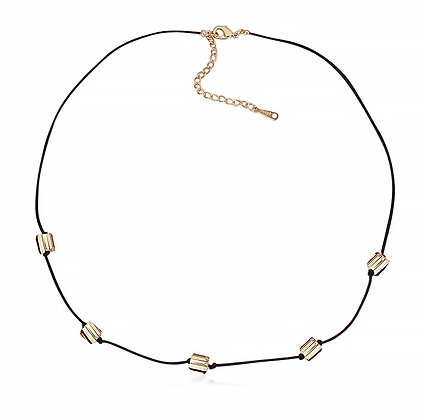 Halsband Swarovski Cubes Golden Shadow