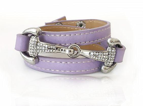 Bettarmband Light Purple Silver Bling