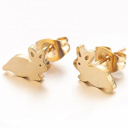 Örhängen Golden Bunny