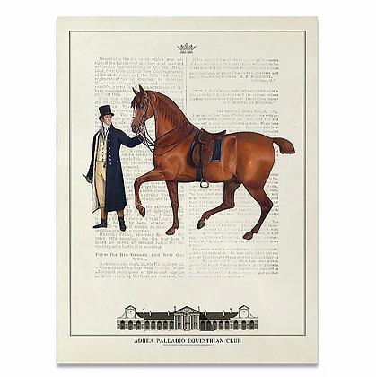 Vintage Equestrian Canvas
