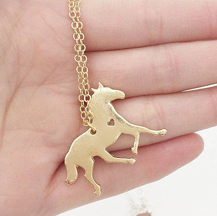 Halsband Love Horses Guld