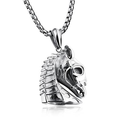 Halsband Warrior Horse Silver