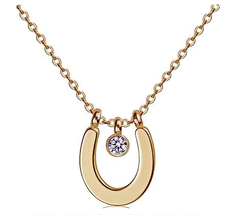 Halsband Crystal Horseshoe Gold
