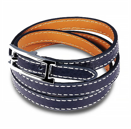 Läderarmband Blue