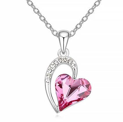 Swarovski Heart Pink Crystal