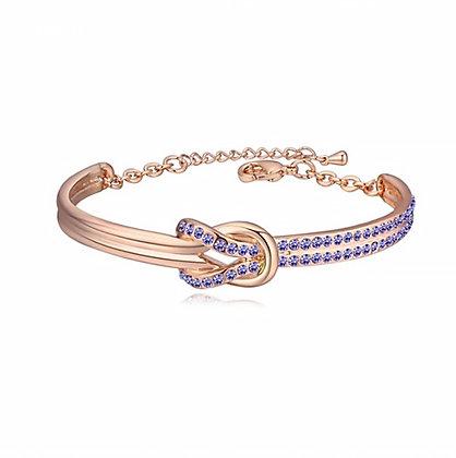 Infinity Bangle Tanzanite Crystal Rose Gold