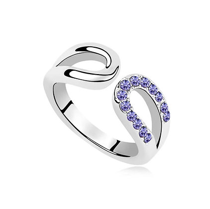 Ring Horseshoe Tanzanite Crystal