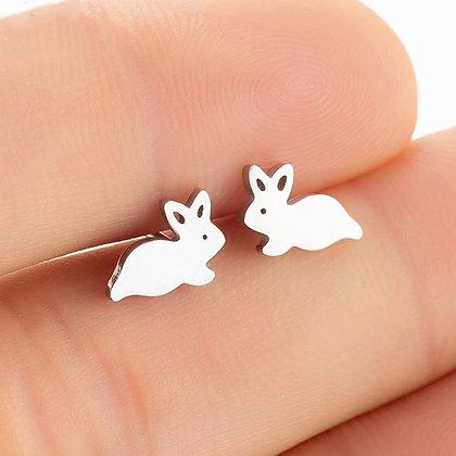 Örhängen Silver Bunny