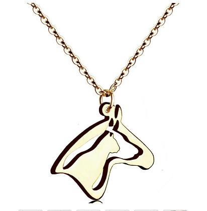 Halsband Golden Horse Dog Cat