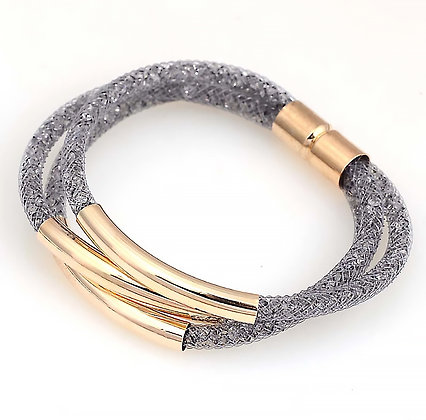 Armband Crystal Mesh Grey