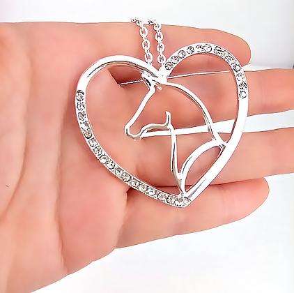 Halsband Hjärta Silver