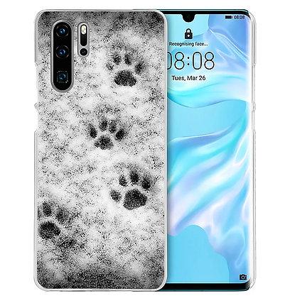 Mobilskal Huawei Snowy Pawprints