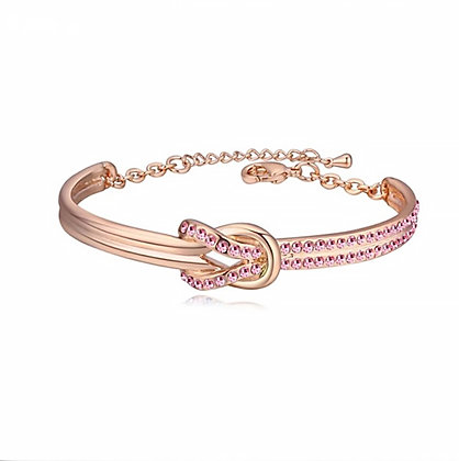 Infinity Bangle Light Rose Crystal Rose Gold
