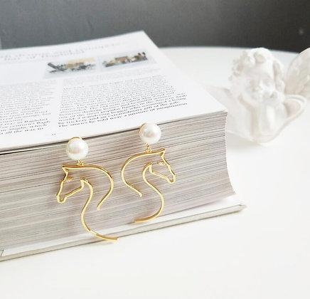 Örhängen Pearl Horse
