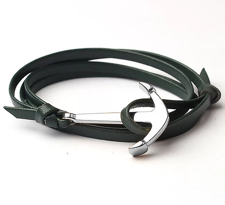 Armband Anchor Green Silver