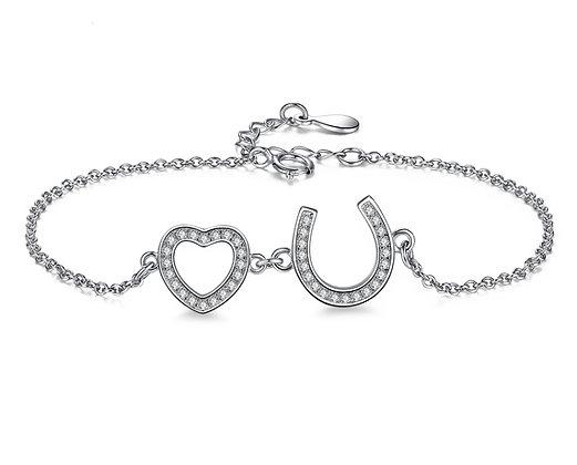 Armband Hästsko med Hjärta