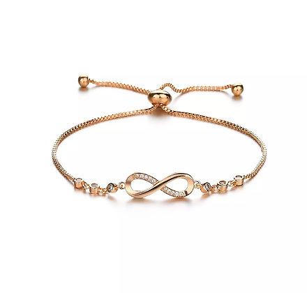 Armband Infinity Crystal Gold