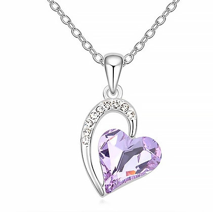 Swarovski Heart Purple Crystal