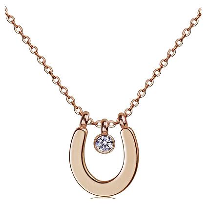 Halsband Crystal Horseshoe Rose Gold
