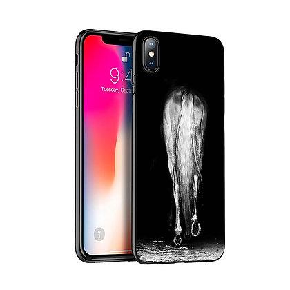 Mobilskal iPhone Grey Horse