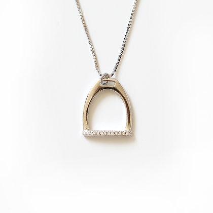 Halsband Crystal Stirrup Silver