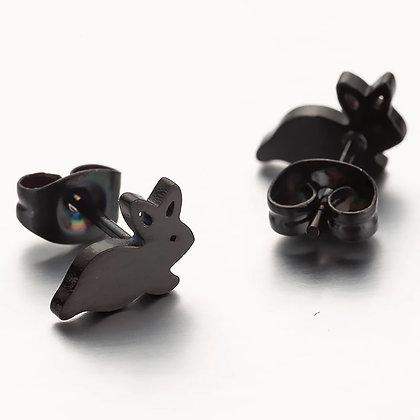 Örhängen Black Bunny