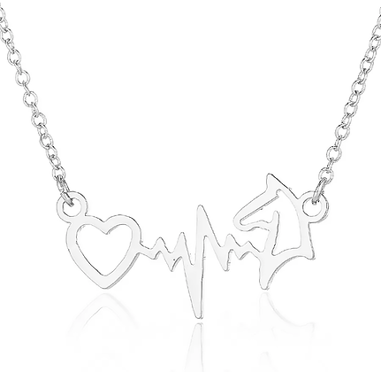 Halsband Häst EKG Silver