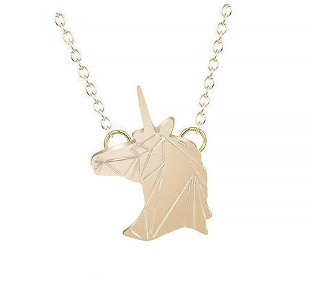 Halsband Enhörning Guld