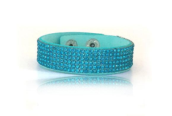 Armband Turkos Glitter