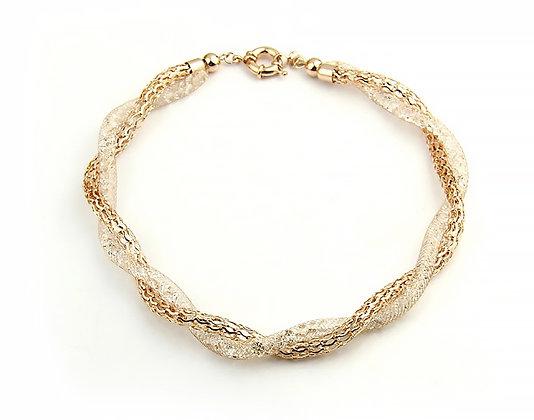 Halsband Golden Crystal