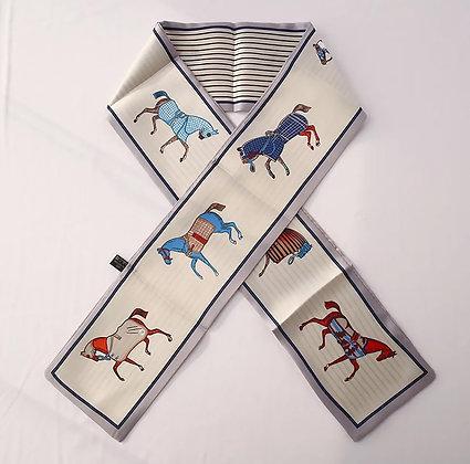 Scarf Khaki Horses