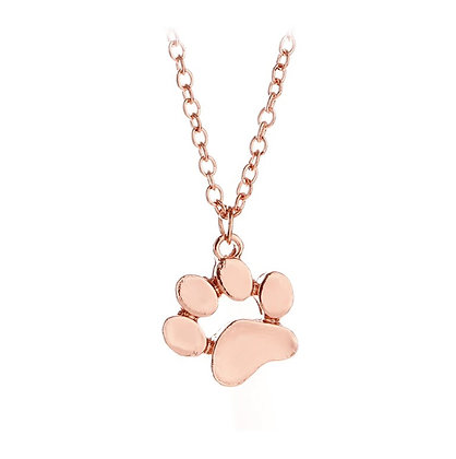Halsband Rose Gold Paw prints