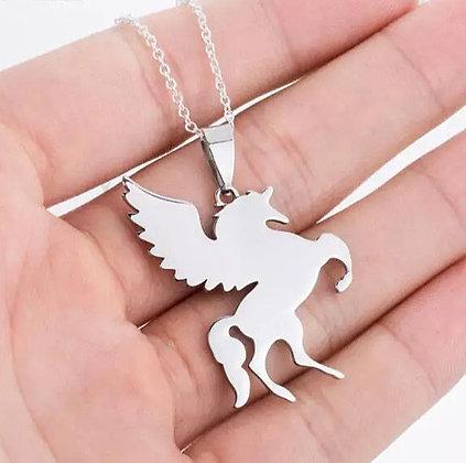 Halsband Unicorn Silver