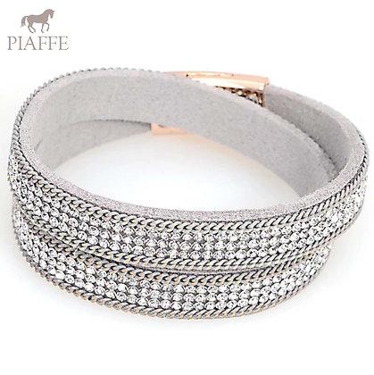 Armband Crystal Grey