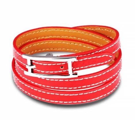 Läderarmband Red