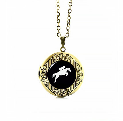 Halsband Fotoberlock Showjumper Antique Bronze