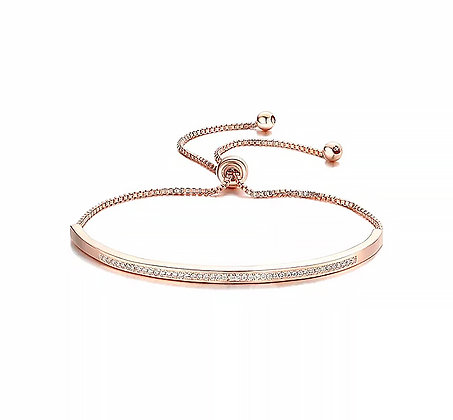 Armband Crystal Bar Rose Gold